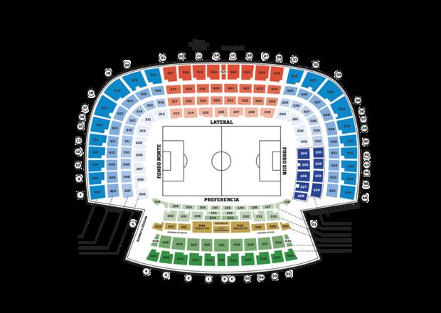 Plano del estadio del Atlético de Madrid.