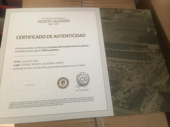 Certificado que se le pone a la caja