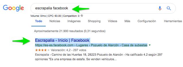 escrapalia facebook Buscar con Google1